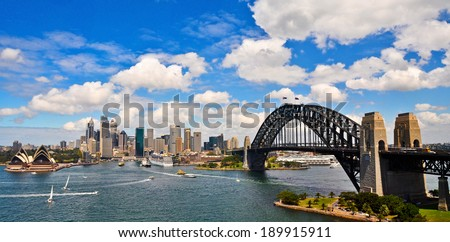 Sydney Harbour Panorama - stock photo