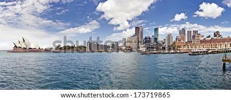 Sydney Harbour with Sydney opera house, Australia - stock photo