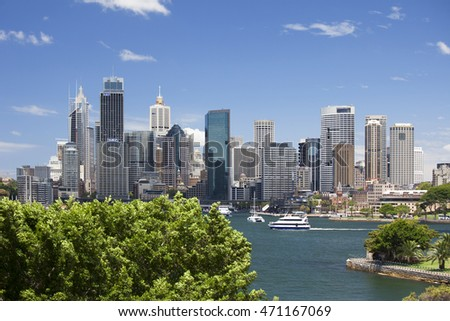 SYDNEY-JAN. 30, 2012: Capital of New South Wales with 5 mil. is the most populous city in Australia and Oceania. Area has been inhabited by indigenous Australians since the Upper Paleolithic period.