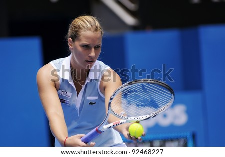 SYDNEY - JAN 10: Dominika Cibulkova at the APIA Tennis International. Sydney - January 10, 2012