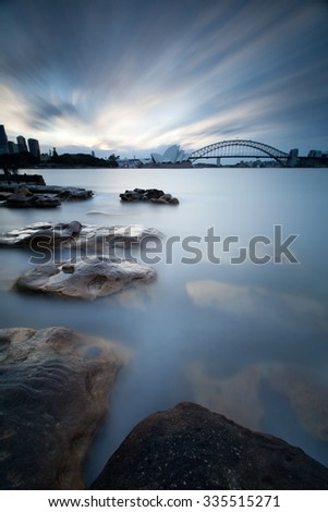 SYDNEY - JUNE 11: The Sydney Opera House is a multi-venue performing arts centre close to the Sydney Harbour Bridge and the Sydney central business district. June 11, 2014 in Sydney, Australia. - stock photo
