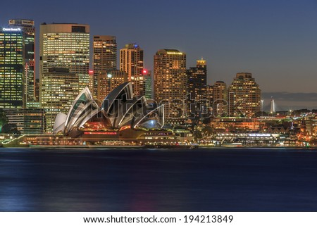 SYDNEY - MAY 14: City scape of Sydney on May 14, 2014 in Sydney. It is the state capital of New South Wales and the most populous city in Australia. - stock photo