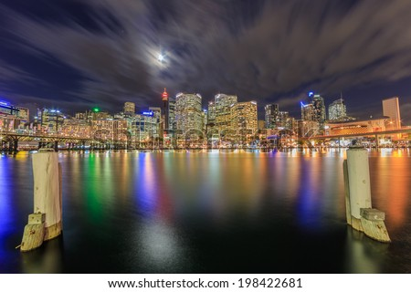 SYDNEY - MAY 12: City scape of Sydney on May 12, 2014 in Sydney. It is the state capital of New South Wales and the most populous city in Australia.