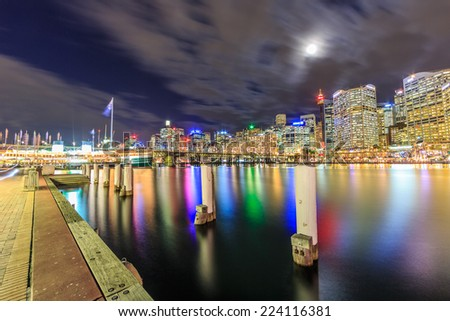 SYDNEY - MAY 12: City scape of Sydney on May 12, 2014 in Sydney. It is the state capital of New South Wales and the most populous city in Australia. - stock photo