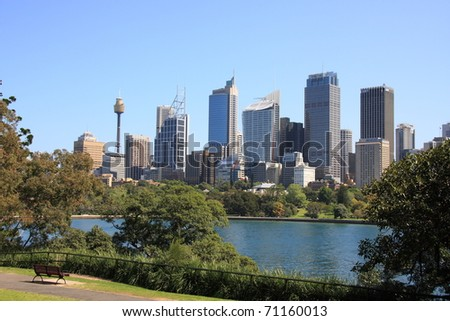 SYDNEY - MAY 29: Sydney business district is the 38th most expensive office market in the world according to the global market survey on May 29, 2008 in Sydney, Australia.