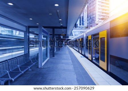 Sydney metro station - stock photo