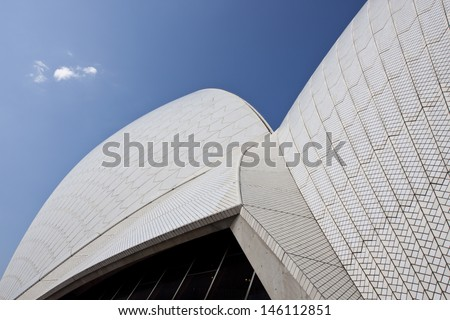 SYDNEY-NOV 12:The Iconic Sydney Opera House is a multi-venue performing arts centre on November 12, 2011 in Sydney, Australia. The outstanding architecture was designed by Danish architect Jorn Utzon. - stock photo