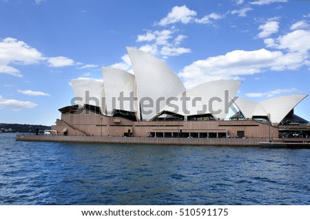 SYDNEY - OCT 23 2016:Sydney Opera House, one of the 20th century's most famous and distinctive building in the world.