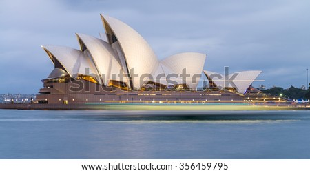SYDNEY - OCT 12: The Iconic Sydney Opera House is a multi-venue performing arts centre also containing bars and outdoor restaurants. October 12, 2015 in Sydney, Australia.