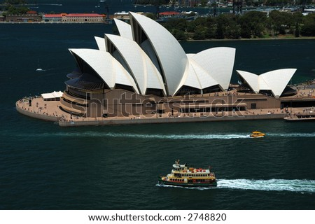 Sydney Opera House. Aerial View. - stock photo