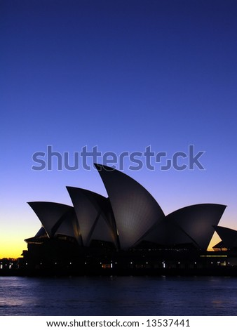 Sydney Opera House at Dawn - stock photo