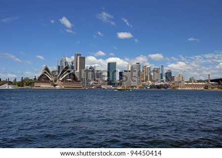 Sydney Opera House, harbour and downtown, Australia