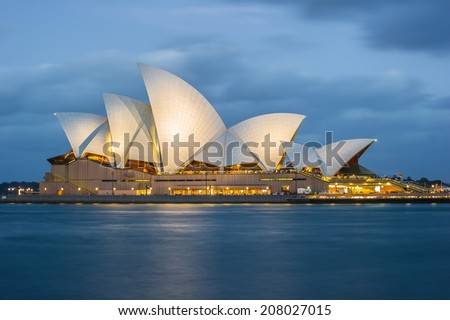 Sydney Opera House Sydney Australia circa 2012 - stock photo