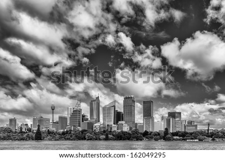Sydney Skyline - stock photo