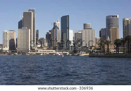 Sydney Skyline - Looking towards Circular Quay