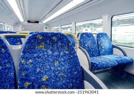 Sydney subway cars - stock photo