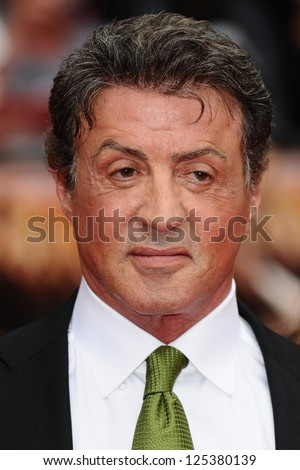 Sylvester Stallone arriving for the UK Premiere of The Expendables 2 at the Empire Cinema in, Leicester Square, London. 13/08/2012 Picture by: Steve Vas - stock photo