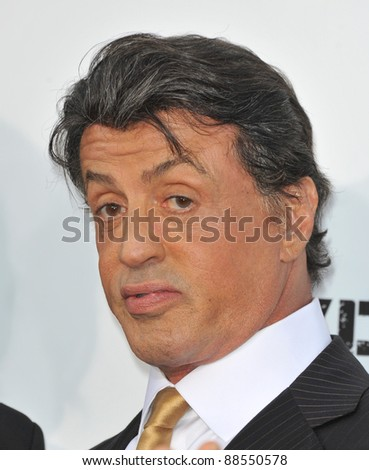"Sylvester Stallone at the world premiere of his new movie ""The Expendables"" at Grauman's Chinese Theatre, Hollywood. August 3, 2010  Los Angeles, CA Picture: Paul Smith / Featureflash"