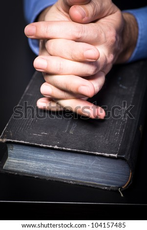 Symbilic picture with bible for credence and business