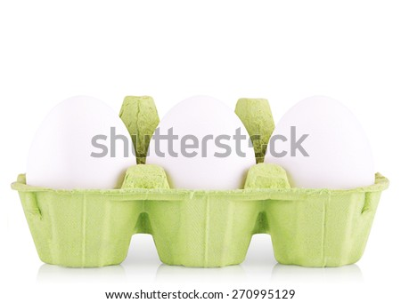 Symbol Concept white egg isolated in box  - stock photo