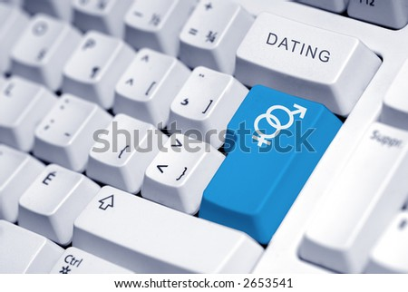 symbol for a man and a woman on the computer