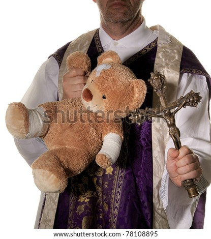Symbol for abuses in the Catholic Church - stock photo