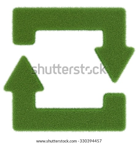 Symbol Closed Loop Green Circulation Biological Stock Illustration