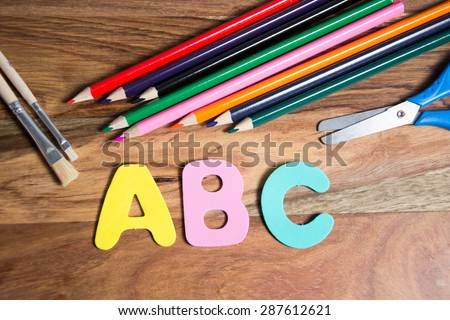 symbol for first day of school - stock photo