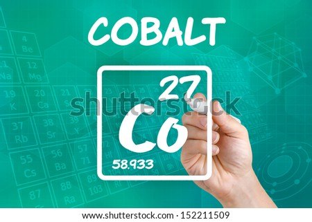 Symbol for the chemical element cobalt