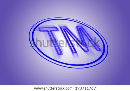 Symbol, logo trademark sign on purple background - stock photo
