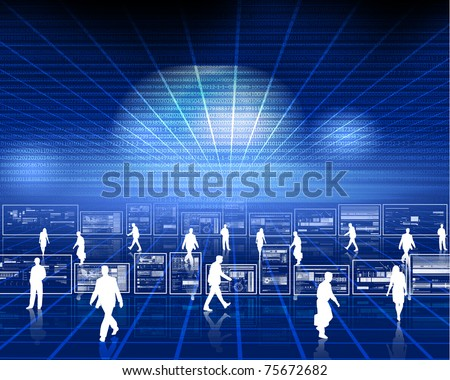 Symbol of a successful business and business activity. Illustration - stock photo