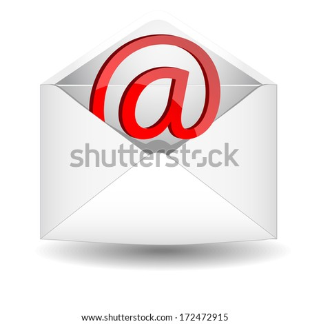 Symbol of e-mail in an envelope