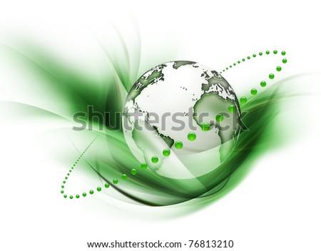 symbol of environmental protection - stock photo