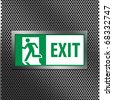 Symbol of Fire Exit Sign - stock photo
