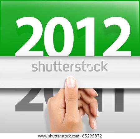 symbol of happy new year 2012 - stock photo