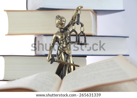 Symbol of law and justice. - stock photo