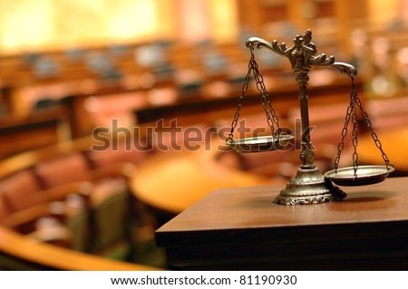 Symbol of law and justice - stock photo