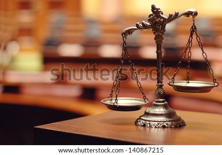 Symbol of law and justice, law and justice concept. - stock photo