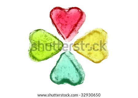 Symbol of luck on the white background - stock photo
