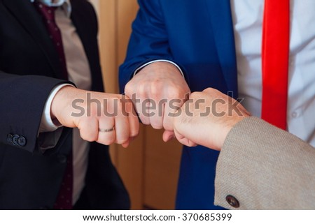 symbol of male friendship and team. - stock photo