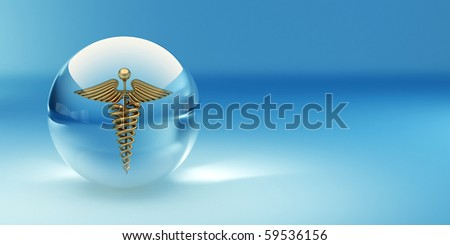 Symbol of medicine. Abstract background. 3d - stock photo