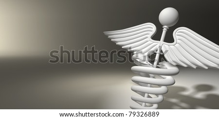 Symbol of medicine on grey background. 3d - stock photo