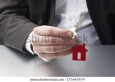 symbol of new home ownership - stock photo