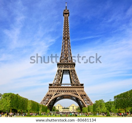 Symbol of Paris, France - stock photo