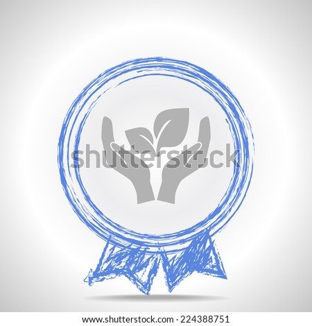 symbol of protection of the environment - stock photo
