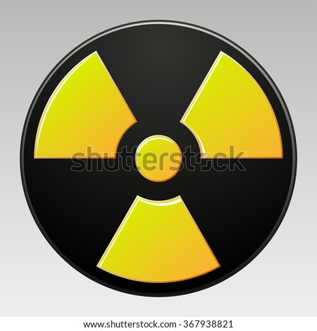 symbol of radioactive contamination with highlights on a gray background, vector illustration of a stylish for web design - stock photo