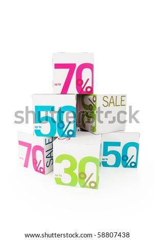 Symbol of sale - stock photo