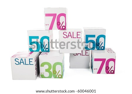Symbol of sale - stock photo