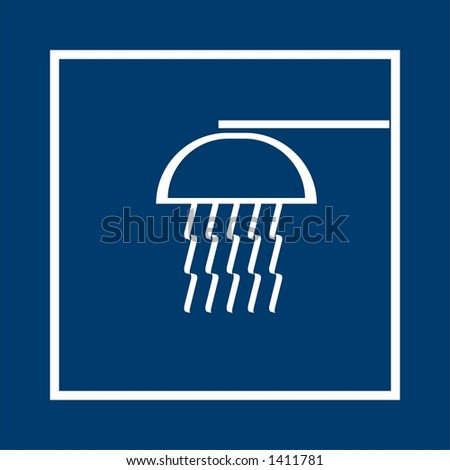 symbol of shower - stock photo
