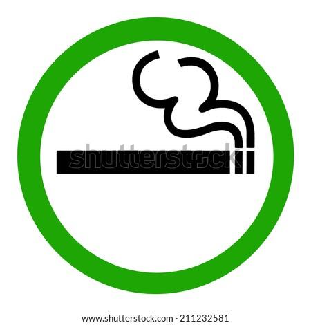 Symbol of Smoking Zone Sign isolated on White Background - stock photo